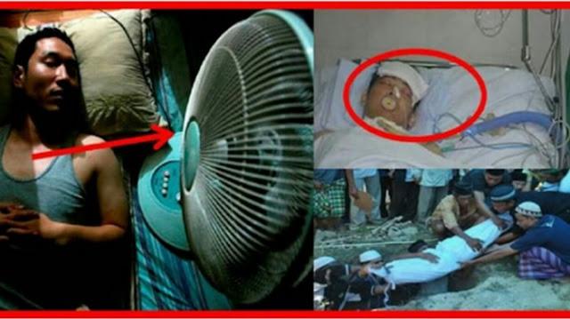Meski Anda 100% Sehat, Bisa Mati Mendadak Jika Tidur Gunakan Kipas Angin Seperti ini