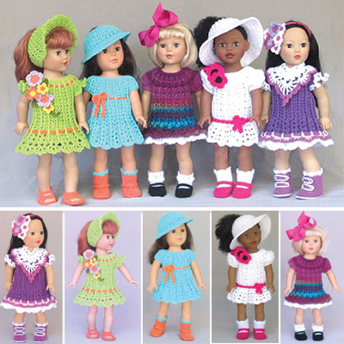 Simple Dresses for 18-Inch Dolls - Crochet Pattern