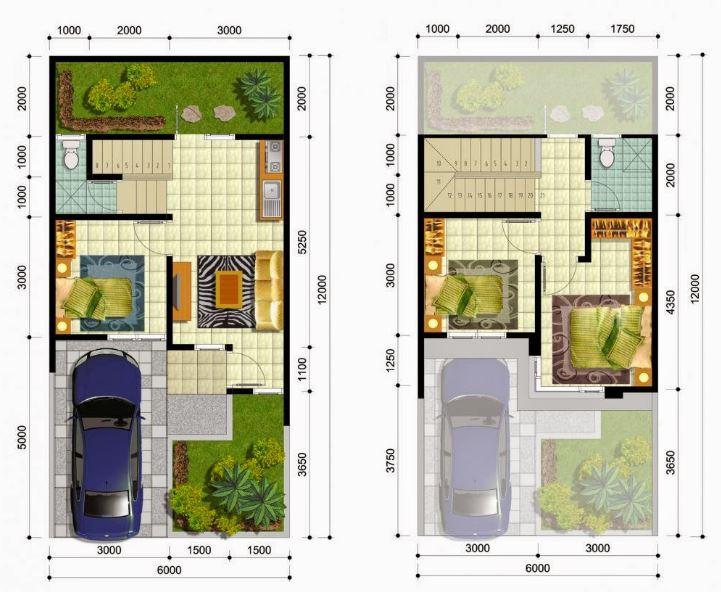 Denah Rumah Minimalis Idaman Sederhana Type 80