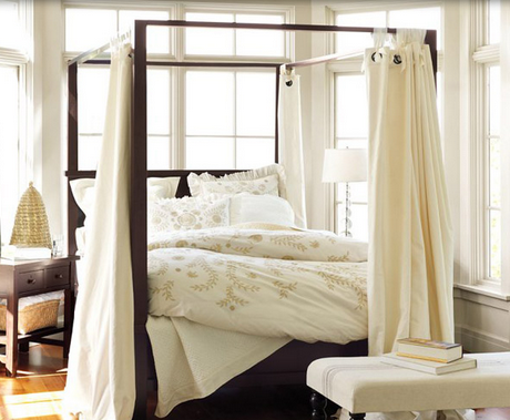 Dreamy and Romantic Full Draped Canopy Beds 6