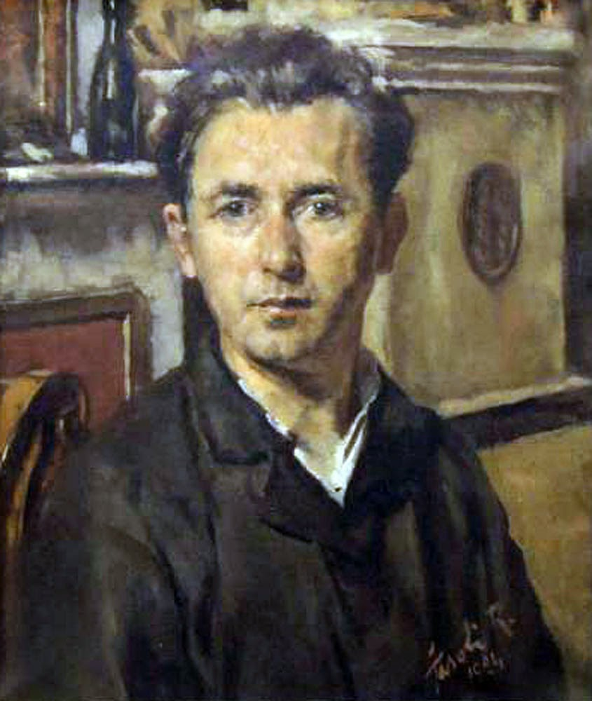 Renato Fasoli, Self Portrait, Portraits of Painters, Fine arts, Portraits of painters blog, Paintings of Renato Fasoli, Painter Renato Fasoli