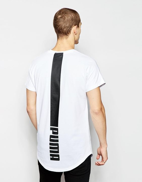 Oversized T-shirt with print on the back Puma Evolution