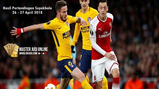 Hasil Pertandingan Sepakbola 26 - 27 April 2018