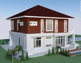 Rumah Minimalis Modern 2 Lantai Nampak Mewah 4 Kamar Tidur