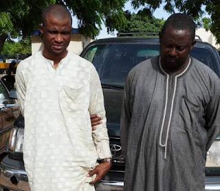 Photos: Notorious syndicate that specialised in carjacking intercepted while trying to escape into Niger Republic with vehicle they stole in Abuja