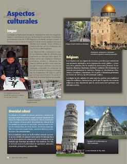 Apoyo Primaria Atlas de Geografía del Mundo 5to. Grado Capítulo 3 Lección 2 Aspectos Culturales, Lenguas, Religiones, Diversidad Cultural