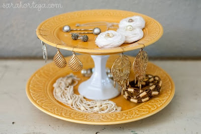 Cheery Yellow Jewelry Holder