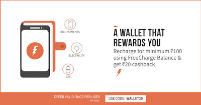 Freecharge Rs 100 Freecharge Balance Offer