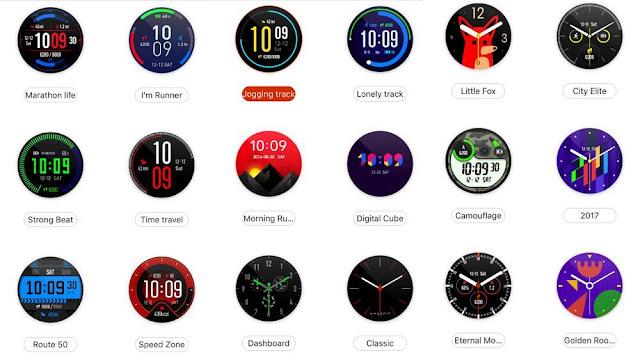 Xiaomi Amazfit Pace Watchfaces