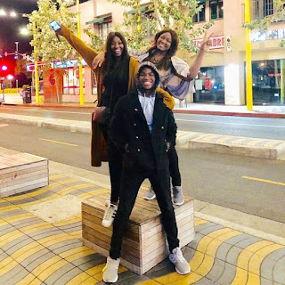 ''At 40, my last child has left for Uni'' - Omotola says as she shares cute photos with her kids in the US