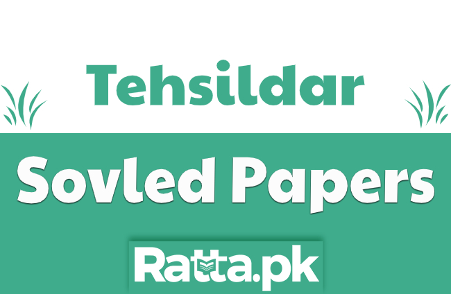 Solved Past Papers for Tehsildar Post pdf Download NTS, PPSC, BPSC
