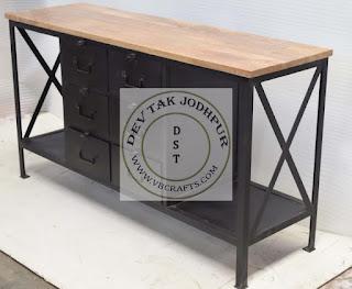 Vintage Industrial Drawer Cabinet