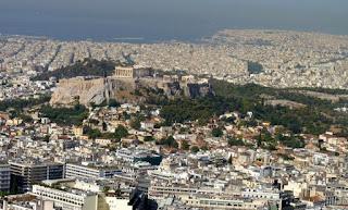 Acrópolis de Atenas desde la Colina Licabeto.