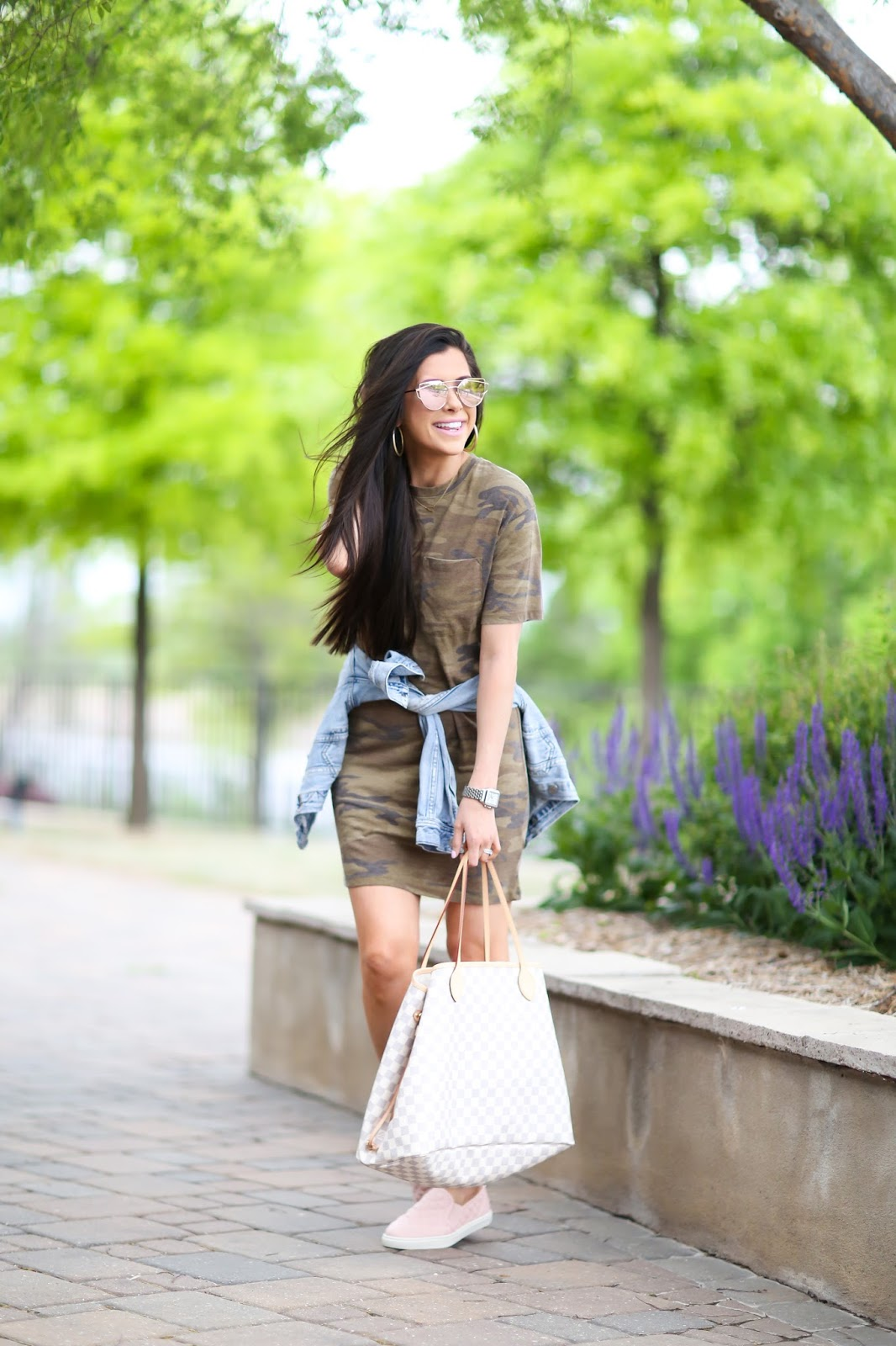 Casual Outfit: Camo T-Shirt Dress | The Sweetest Thing