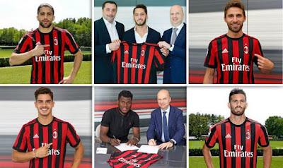 Daftar Pemain Baru AC Milan Musim 2017-2018 Lengkap