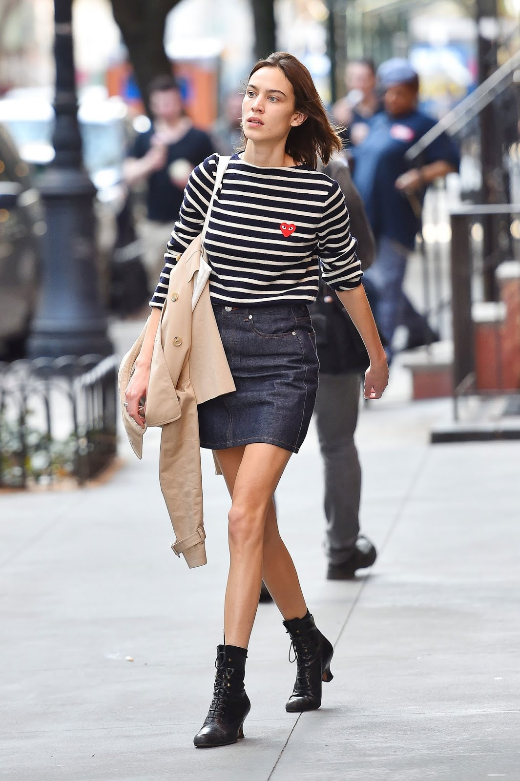Alexa Chung Proves the Classic Cool-Factor of a Striped Top