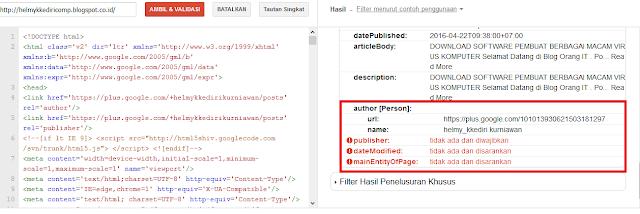 Cara Memperbaiki Error Data Terstruktur pada Webmaster