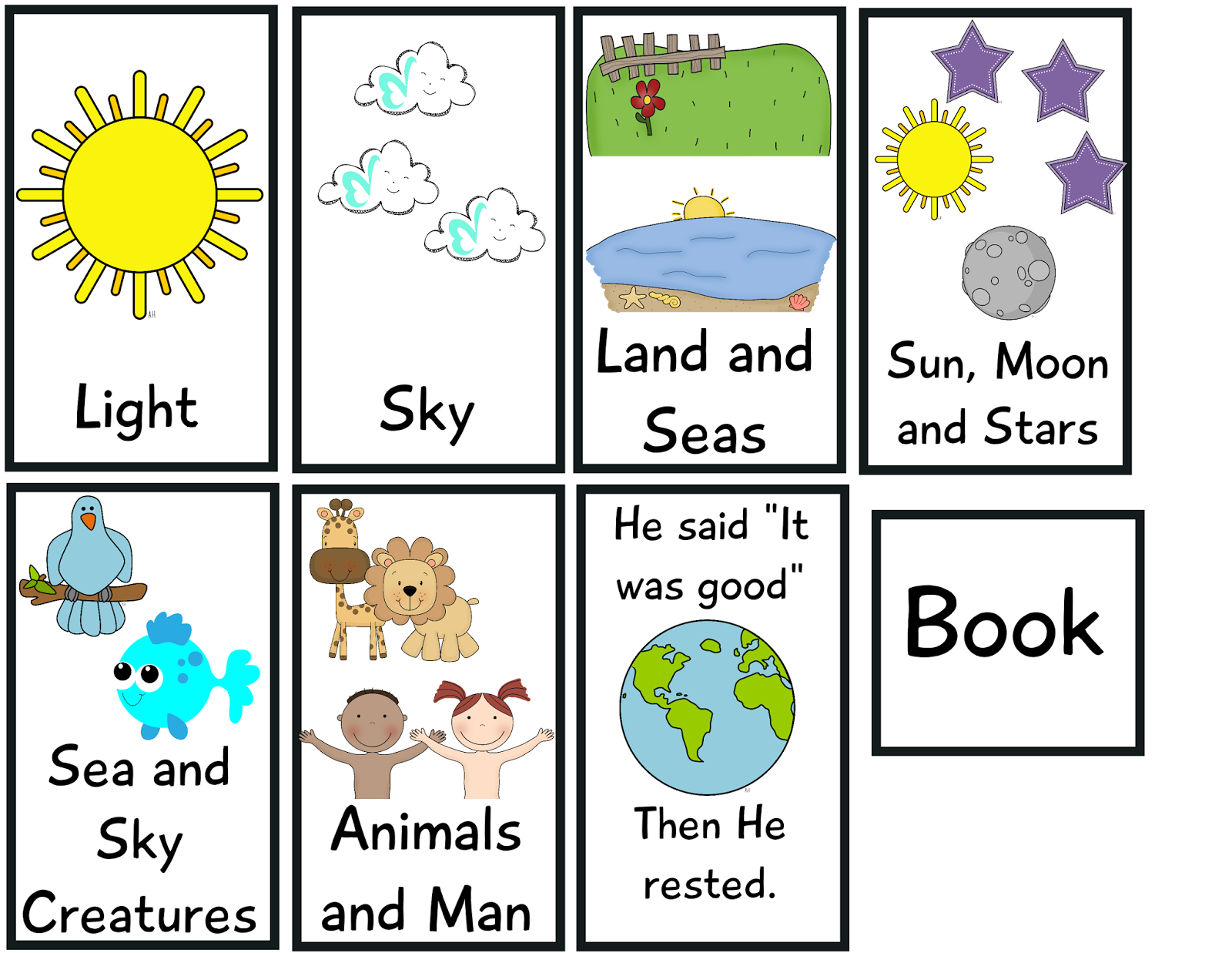 The Crazy Pre K Classroom The Story Of Creation Flip Book Freebie