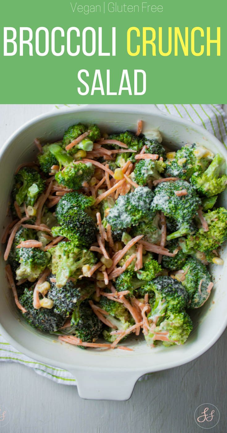 Broccoli Crunch Salad - #Vegan and #Gluten Free!