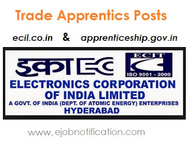 ECIL Recruitment for 275 Trade Apprentices Jobs in Hyderabad @ecil.co.in