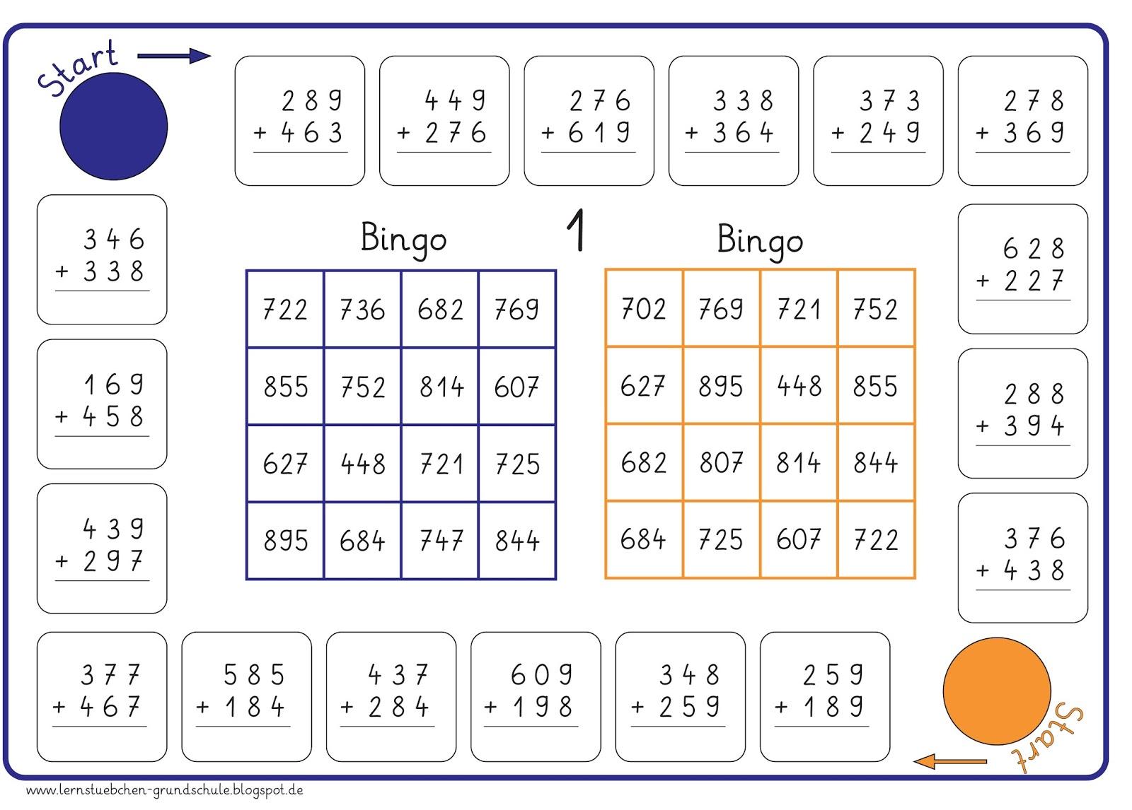 lernst252bchen bingo schriftliche addition