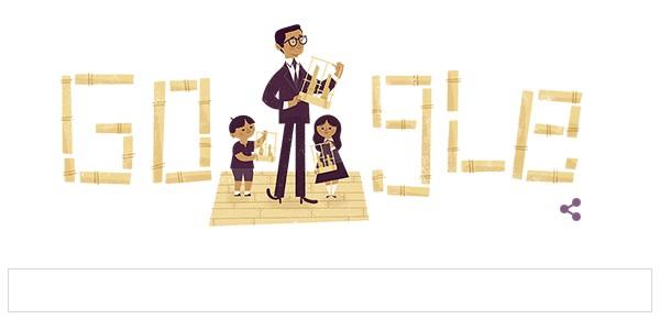 google doodle peringati hari lahir daeng soetigna ke 108