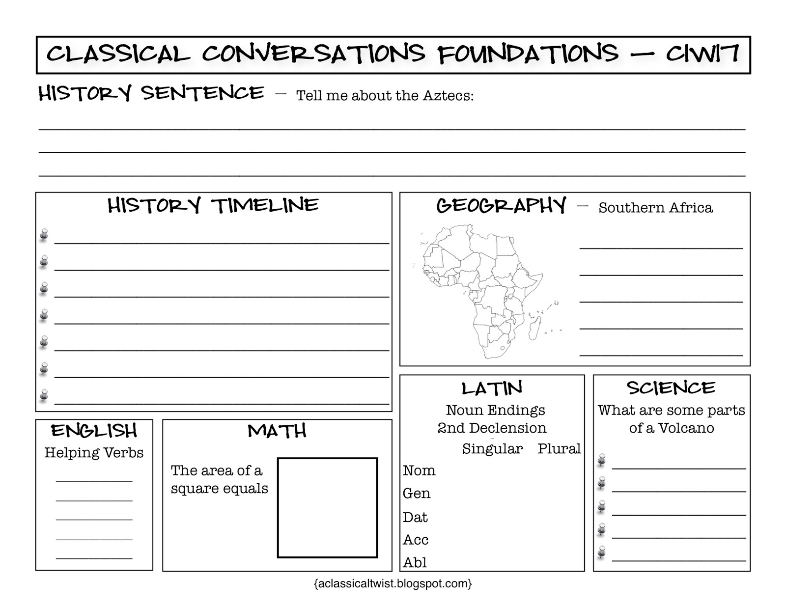 Homeschooling With A Classical Twist Cycle 1 Week 17