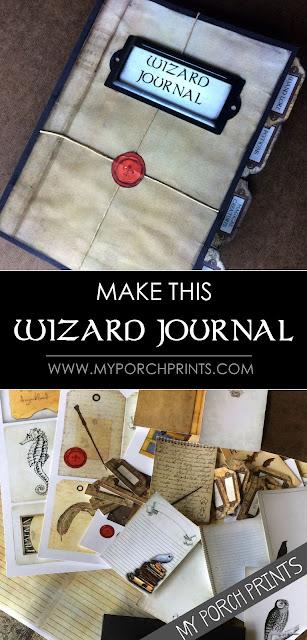 Make This Wizard Envelope Journal from My Porch Prints