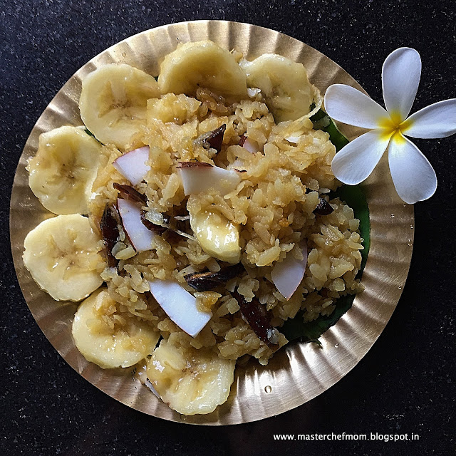 Vella Aval | Sweet Poha with Jaggery