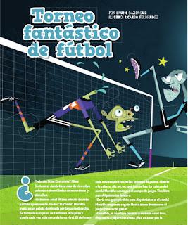 Torneo fantástico de fútbol, publicado en Billiken