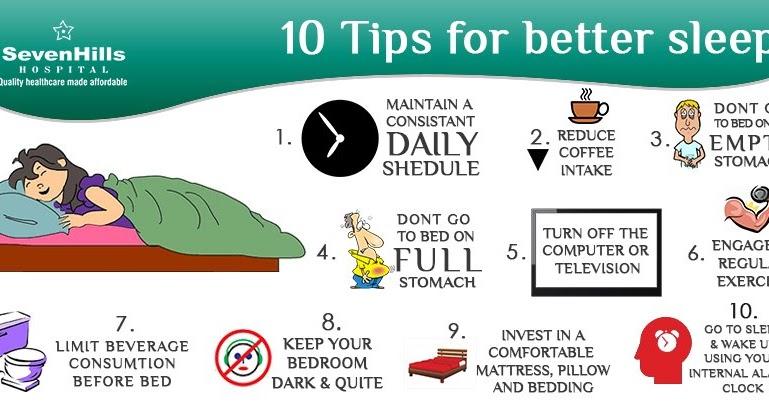 """"""" 10 Tips for better Sleep """""""