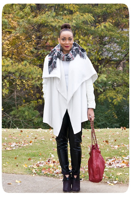 Vogue 8696 White Blanket Coat - Erica B - DIY Style!