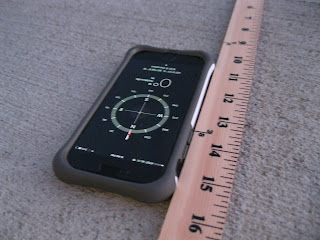 iphone compass and yard stick