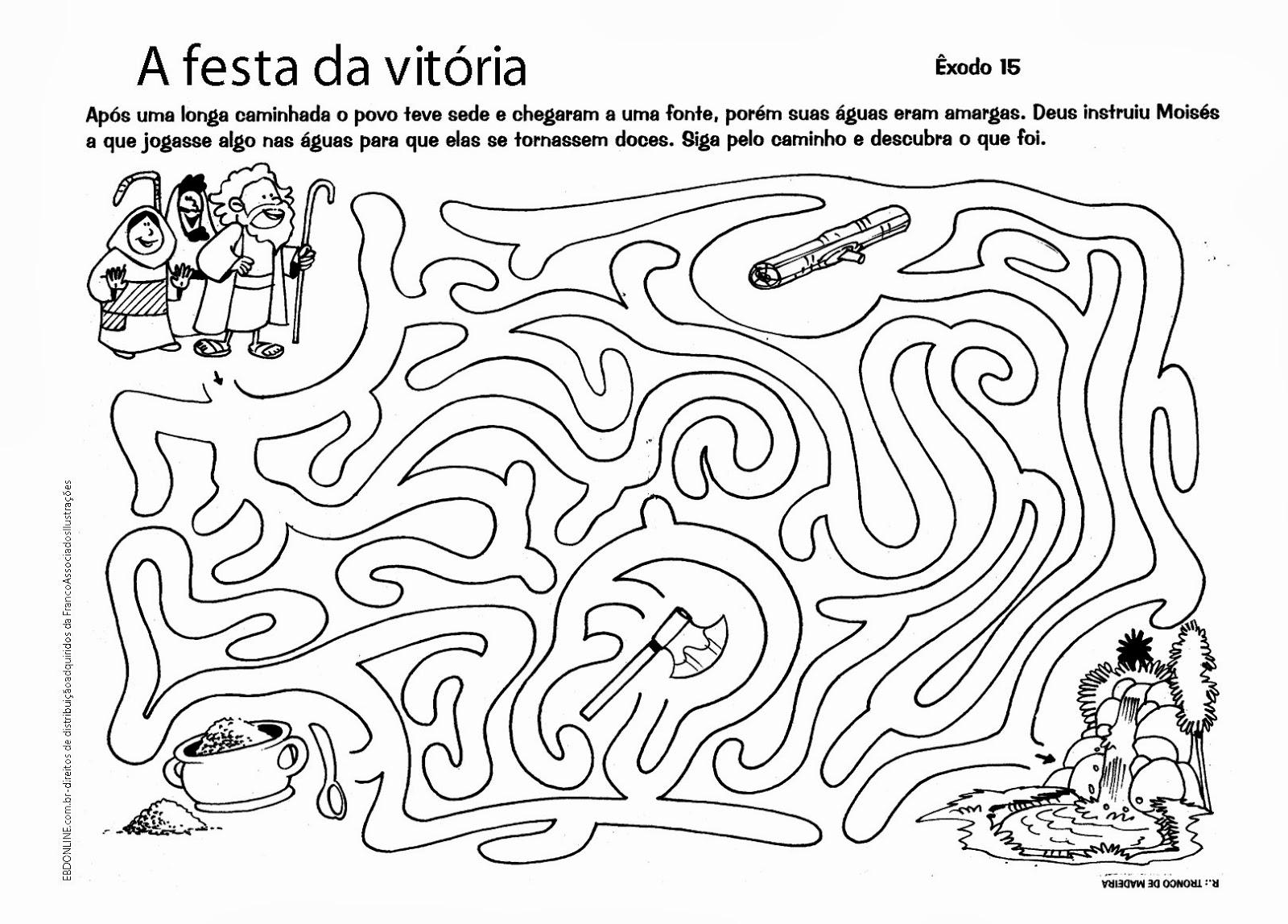 Educar X: Atividades bíblicas labirinto para imprimir