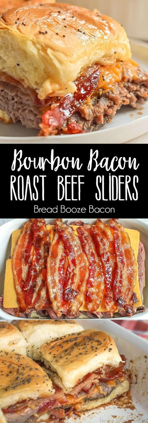 Bourbon Bacon Roast Beef Sliders