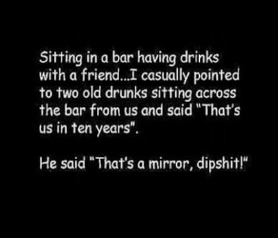Two friends sitting in a bar..