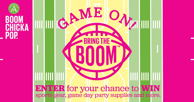 Angie's BOOMCHICKAPOP is celebrating Game Day by bringing on the BOOM! They have a chance for you to enter daily to win awesome game day prizes like a TV, sports gear and more!