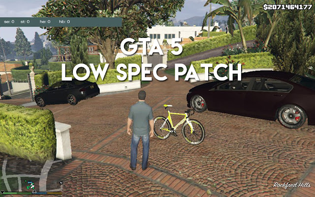 Tampilan game Grand Theft Auto V, ketika menggunakan Low End Patch