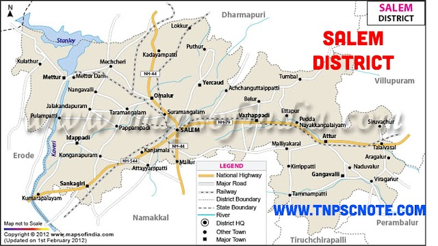Salem District Information, Boundaries and History from Shankar IAS Academy
