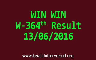 WIN WIN Lottery W 364 Results 13-6-2016