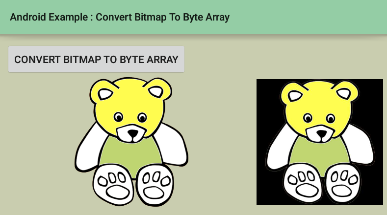 android - How to convert a bitmap to a byte array