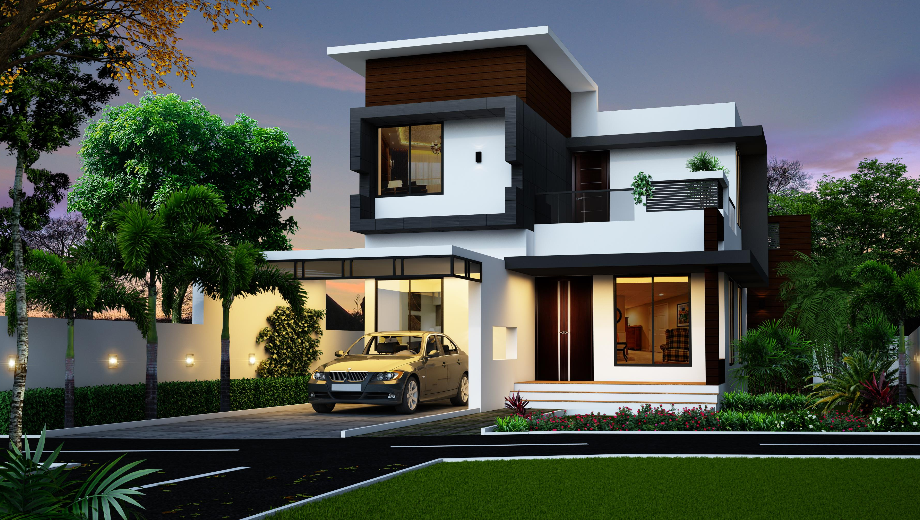 2 story house photos in the philippines bahay ofw for Modern house plans 2016