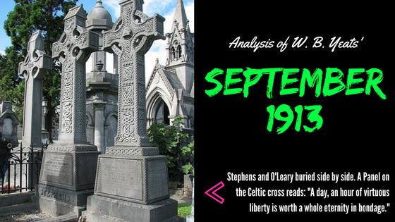 September 1913 by William Butler Yeats- Analysis