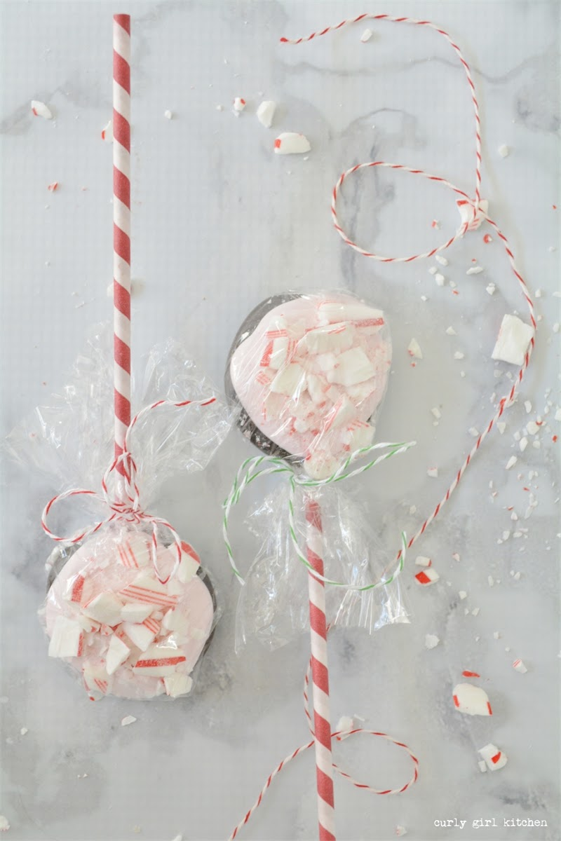 Peppermint Bark Pops