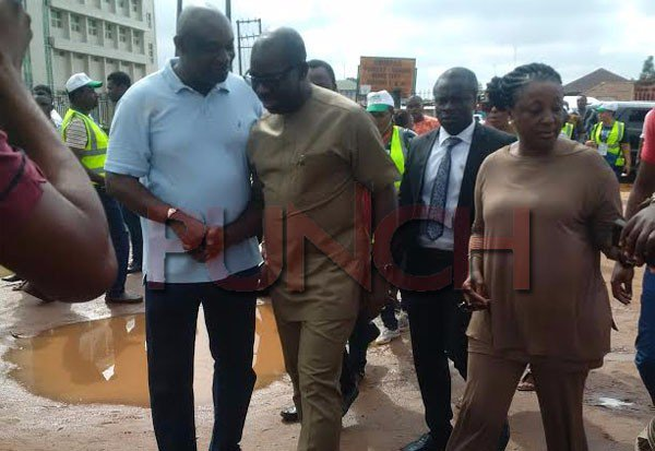 Godwin Obaseki and his wife