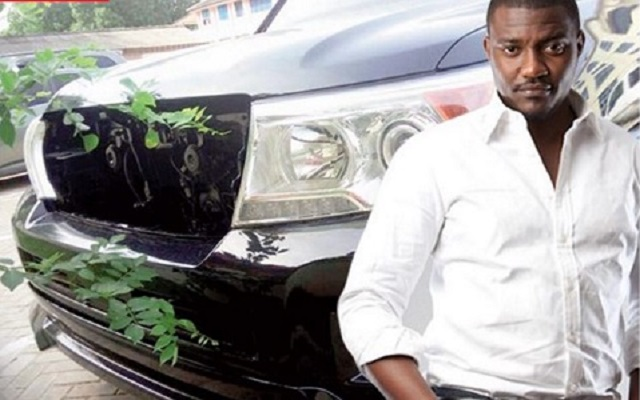 Actor John Dumelo with state vehicle
