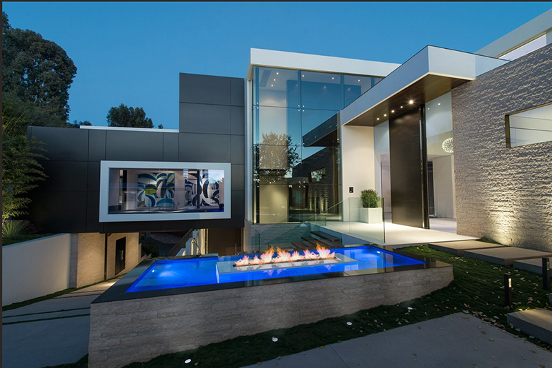 Part One Modern Mansion With Wrap Around Pool And Glass