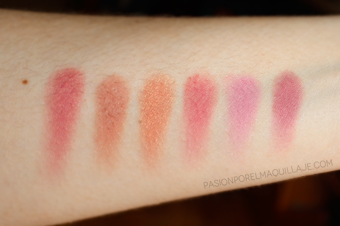 Swatches Love Flush Blush Palette Too Faced