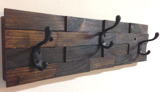rustic coat hook rack