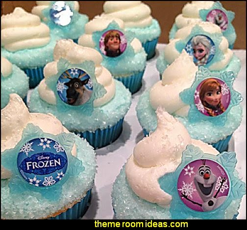 Disney Frozen Cupcake Rings-frozen party decorations